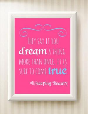 Nursery Sleeping Beauty Quote 8x10 INSTANT by ChristensenDigitals, $3 ...