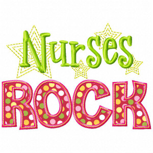 Nurses Rock Applique