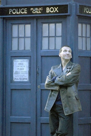 Christopher Eccleston as The Doctor, withhis TARDIS. Eccleston played ...