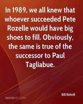 In 1989, we all knew that whoever succeeded Pete Rozelle would have ...