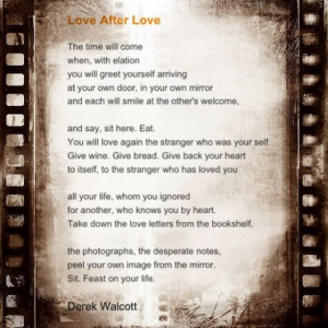 Derek Walcott's Love After Love