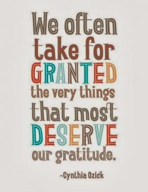 Deserve our gratitude grateful quotes