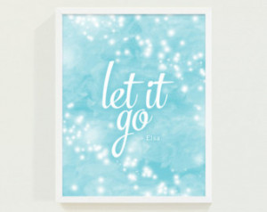 Popular items for let it go quote