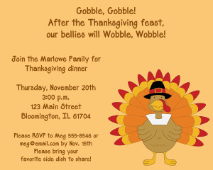 Shop our Store > Gobble Gobble Turkey Thanksgiving Dinner Invitation