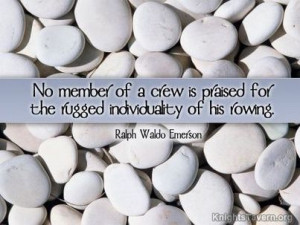 """for the rugged individuality of his rowing."""" -Ralph Waldo Emerson ..."""