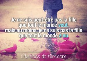 Citations de filles   Citations d'amour, d'amitié et autres » Je ne ...