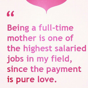 love being a mom