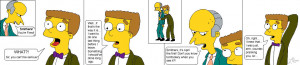 Smithers and Mr. Burns by LightningRodOfHate