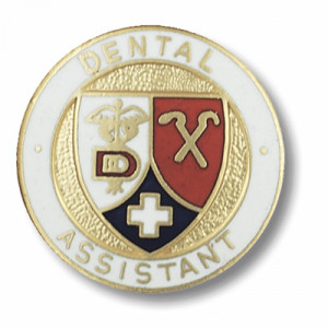 pin with dental assistant logo in the center and dental assistant ...