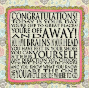 Oh The Places You'll Go Dr. Seuss - Congratulations Graduation Student ...