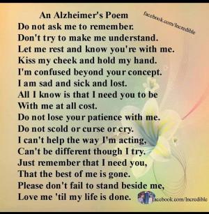 Alzheimers Poem
