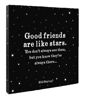 Good Friends Are Like Stars Quote on Canvas