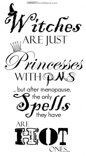 Witches Are Just Princess With Pns - But After Menopause,The Only ...