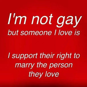 Yes! Equal rights for all