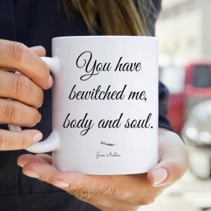 Jane Austen Mug Quote Mug Literary Gift by NeverMorePrints