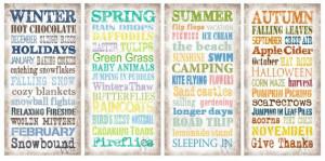SET OF FOUR The Four Seasons Sayings by KeswickandWeldon on Etsy, $59 ...