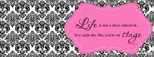 """Live Like You're On Stage by Sissy Frissys """" Facebook Cover by ..."""