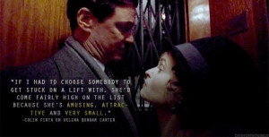 Colin Firth quote about Helena