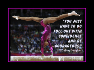 Gymnastics Poster Gabby Douglas Olympic Gymnast Photo Quote Wall Art ...