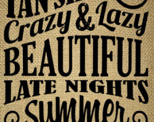 -Summer Holiday Quotes-Word Art-Summer Subway-Crazy Late Nights ...