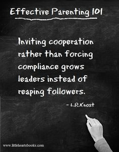 Inviting cooperation rather than forcing compliance grows leaders ...