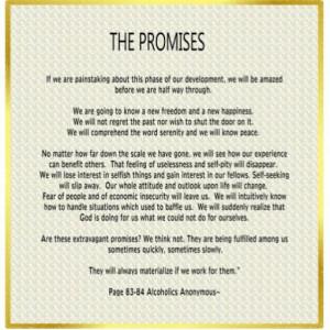 12 promises of Al-Anon