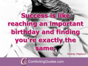 Audrey Hepburn Birthday Quotes