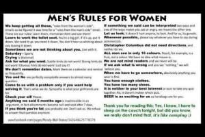 Thread: Men's rules for women