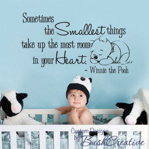 Wall Decal Winnie the Pooh Nursery Wall Words Large 003-35