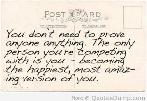 become the most amazing version of yourself :)