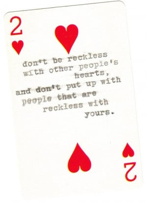 red mine quote quotes white heart kurt vonnegut cards hearts card ...