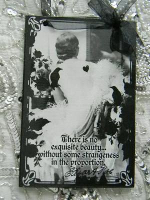 Edgar Allan Poe Quote Decorative Decoupage Plaque Exquisite Beauty ...
