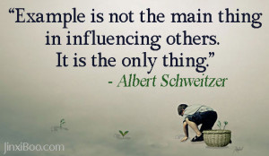 Quote About the Importance of Being an Example