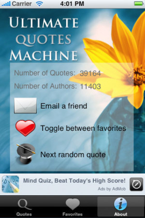 Download Ultimate Quotes Machine (30k+ quotes) iPhone iPad iOS