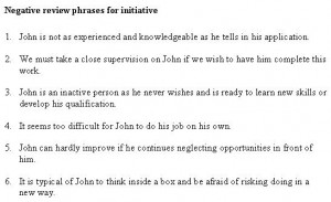Employee Evaluation Sample Phrases - Employee Evaluation - Free Letter