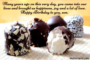Son Birthday Quotes Son birthday wishes
