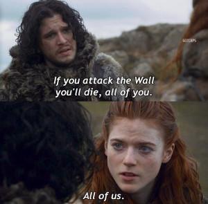 Jon Snow And Ygritte Kiss Jon snow and ygritte
