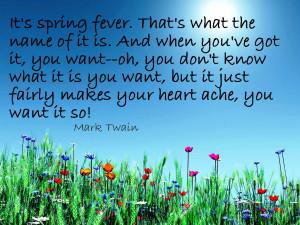 Mark Twain Spring Fever
