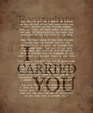 Images Footprints Poem