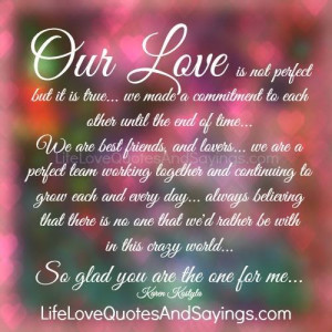 Our Love Is Not Perfect..
