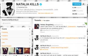 Natalia Kills Retweets ''Illuminati'' Birthday Tweet