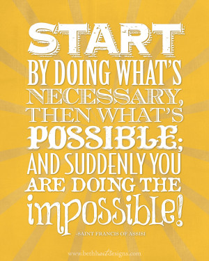 Doing The Impossible...