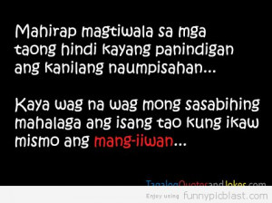Short Funny Quotes About Life Tagalog