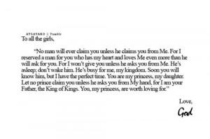 girls #letter from god #love #boys #man of god #precious #tumblr