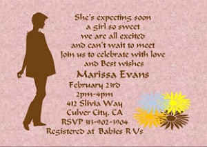 Expecting A Baby Girl Quotes Baby girl shower party
