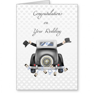 Gay Men Just Married Congratulations Card