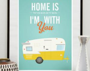 Inspirational quote print, home pos ter, trailer print, retro art ...
