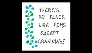 Grandma Magnet - Grandmother quote, Nana, Oma, Bubbe, blue cascading ...