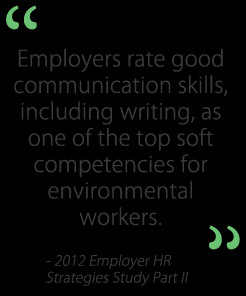 rate good communication skills, including writing, as one of the top ...