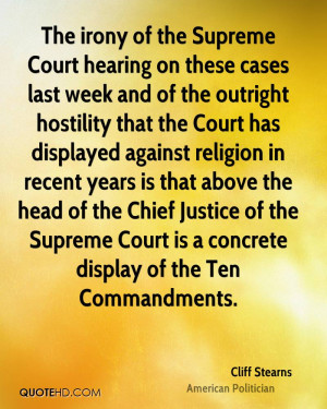of the Supreme Court is a concrete display of the Ten Commandments